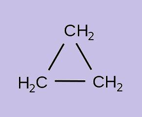 caracteristicas del ciclopropano